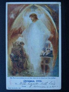 WW1 CHRISTMAS 1916 Sweethearts Christmas Thoughts c1916 Plain Backed Postcard