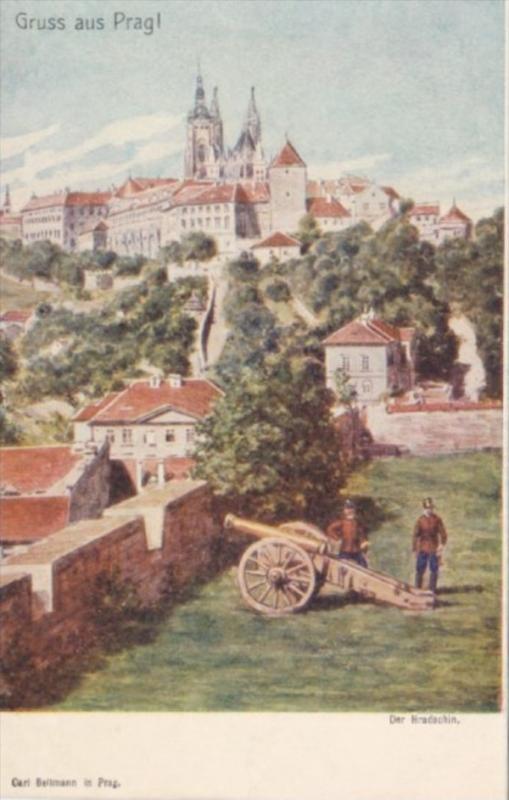 Czechoslovakia Gruss Aus Parg Der Hradschin