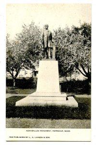 MA - Hopedale. Adin Ballou Monument