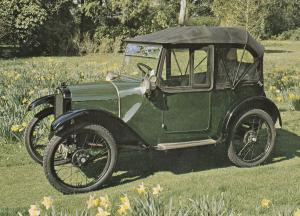 1923 Austin Seven 7 Classic Car Postcard