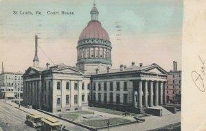 ST. LOUIS, Missouri, 1908;  Court House, Trolleys