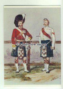 su2674 - 93rd Highlanders Officer in 1877, Artist - Richard Simkin - postcard