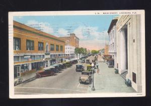 LEESBURG FLORIDA DOWNTOWN MAIN STREET SCENE ANTIQUE VINTAGE