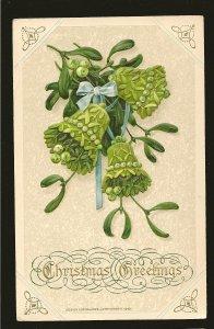 Postmarked 1925 Barrie Ont John Winsch 1913 Embossed Christmas Postcard