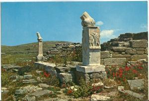 Greece, DELOS, The Sanctuary of Dionysus, unused Postcard