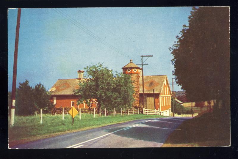 Meyersdale, Pennsylvania/Penn/PA Postcard, Red Barn In Somerset County