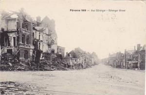 Rue Berenger, Berenger Street, Peronne 1919 (Saône-et-Loire), France, 1900-1...