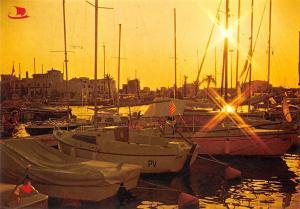 Spain Ampuriabrava Costa Brava, Puesta de Sol Sunset Harbour Boats Port