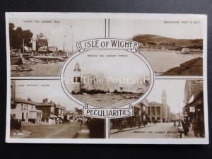 Isle of Wight: PECULIARITIES Multiview c1937 RP