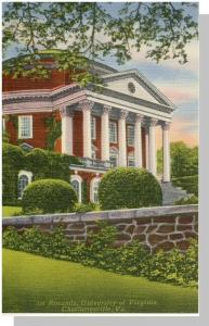Nice Charlottesville,Virginia/VA Postcard,University/Rotunda