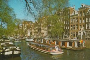 American Bible Society Boat in Holland Postcard