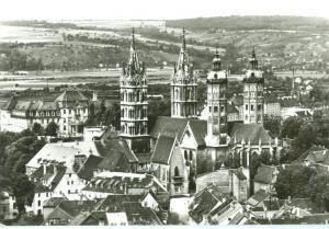 Germany, Naumburg (Saale), Blick zum Dom, used Postcard