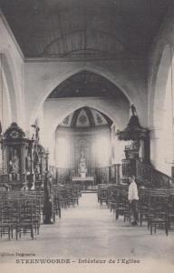 Steenvoorde Church Antique Postcard