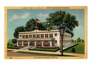 Lamar Bath House Under Government Supervision Hot Springs AR Postcard #82015