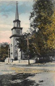 F81/ Grass Valley California Postcard 1909 Methodist Church Building