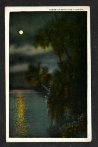 FL View of Moonlight at EVEN TIDE FLORIDA Postcard PC