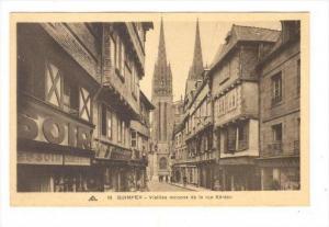 QUIMPER - Vieilles maisons de la rue Kereon , France, 1910s