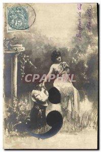 Old Postcard Fantaisie Semicolon