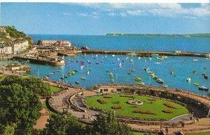 Devon Postcard - Princess Gardens & Harbour from Rock Walk - Torquay   ZZ12