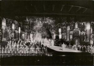 Opera scene actors theatre real photo