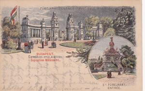 BUDAPEST , Hungary, 1890s; Exposition Millenaire, Entrance