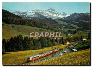Postcard Modern Appenzellerbahn put Saentis