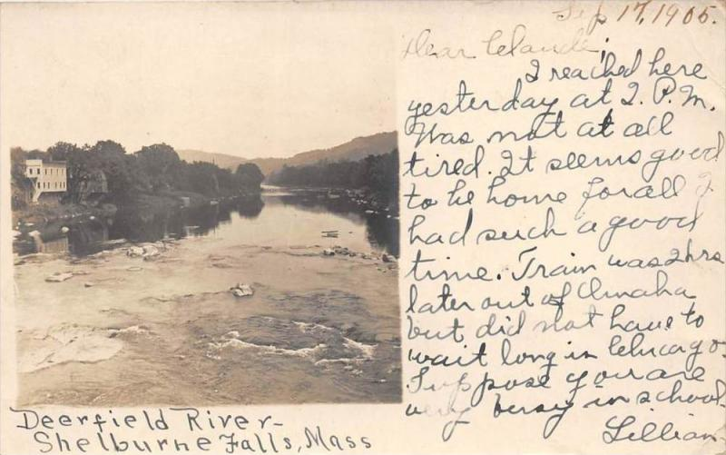 26172 MA, Shelburne Falls, 1905, Deerfield River, whitcaps