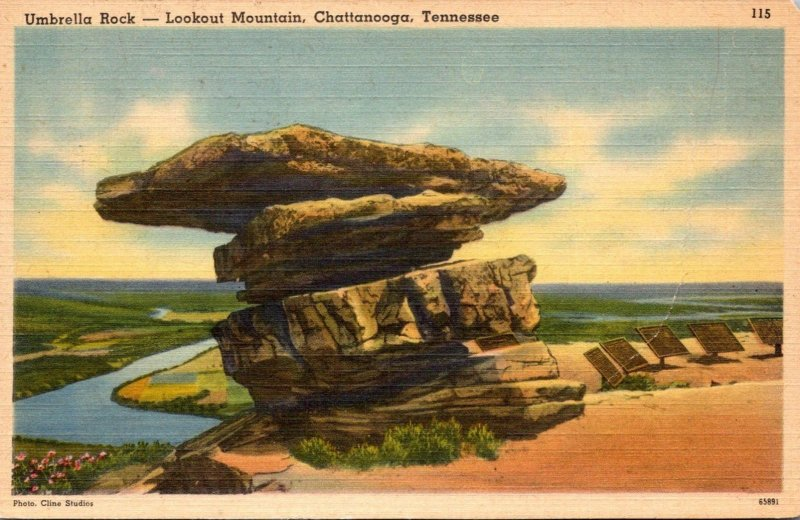 Tennessee Chattanooga Lookout Mountain Umbrella Rock 1946