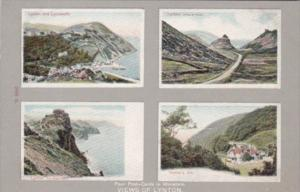 England Views Of Lynton Four Postcards In MIniature