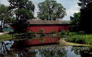 Indianapolis, Indiana USA Traders Point Covered Bridge Unused