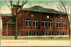 1900s Granville, New York Postcard HIGH SCHOOL Building Pub. For the Beehive