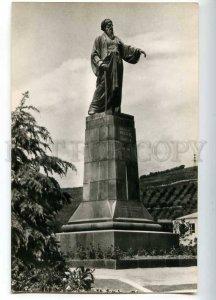 219169 Tajikistan Dushanbe writer Abu Abdullo Rudaki monument old postcard