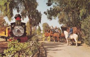 Old 41 Railroad Train & Stage Coach Robbery , Knott´s Berry Farm , BUENA P...