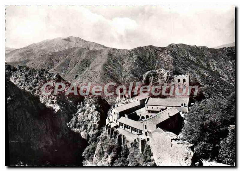 Modern Postcard Saint Martin of Canigou View of the Abbey