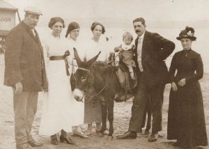 His First Donkey Ride Michael Day Photo Liverpool Postcard