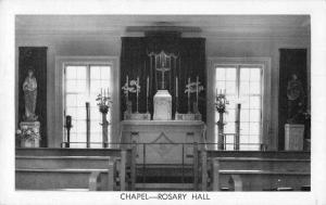 Snyder New York Rosary Hill College Chapel Interior Vintage Postcard JE228271