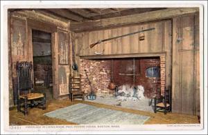 Fireplace in Living Room, Hancock-Clarke House, Lexington MA