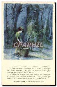 Old Postcard Fantasy Illustrator Poulbot Victor Hugo Les Miserables