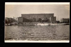 047085 Sweden STOCKHOLM quay view Vintage photo PC
