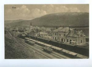 192241 NORWAY Bergen Railway Voss station Vintage postcard