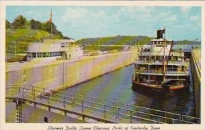 Kentucky Steamer Delta Queen Clearing Locks Of Kentucky Dam