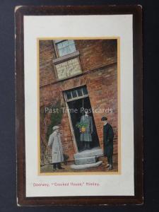 West Midlands DUDLEY Himley CROOKED HOUSE Glynne Arms Doorway - Old Postcard