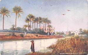 Mahoudieh Canal Alexandria Egypt, Egypte, Africa Unused