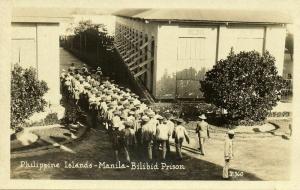 philippines, MANILA, Bilibid Prison, Prisoners (1930s) RPPC Postcard
