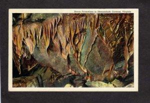 VA Shenandoah Caverns Caves Bacon Formation nr Mt Jackson Virginia Postcard