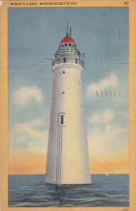 Minot's Lighthouse Massachusetts Bay 1945