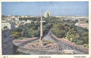 Montevideo Uruguay, South America Obelisco Montevideo Obelisco