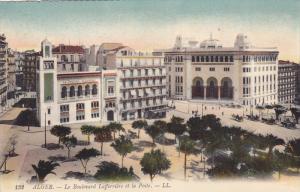 ALGER, Africa, 1900-1910´s; Le Boulevard Lafferriere Et La Poste