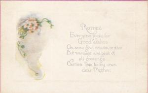 White and pink flowers, Mother´s Day Poem, 00-10s