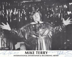Mike Terry Singer Band Manager Early Career Official Large Hand Signed Photo